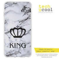 FunnyTech®Silicone Case for Huawei Y7 2019/Y7 Prime 2019 L Design Crown King background Texture