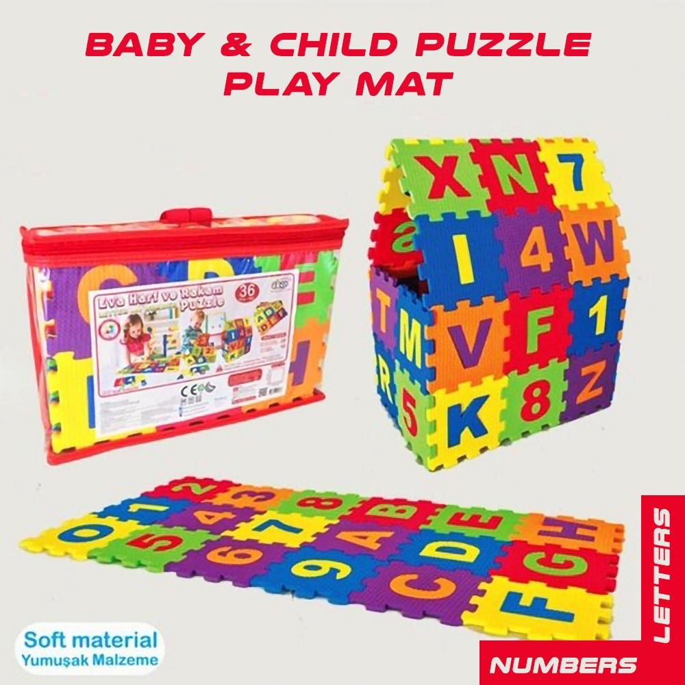 어린이 깔개 매트 Eva 폼 아기 놀이 매트 어린이를위한 장난감 Playmat Numbers Letters Puzzles 보육 교육의 카펫