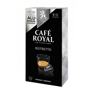 Ristretto Cafe Royal 10 compatible Nespresso aluminium capsules