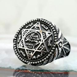 Mühr-ü Solomon David Stern Silber Ring