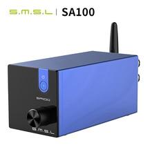 Smsl sa100 amplificador de áudio bluetooth 50w + 50w tpa3116d2 amplificador de potência digital hi fi amplificador de áudio estéreo
