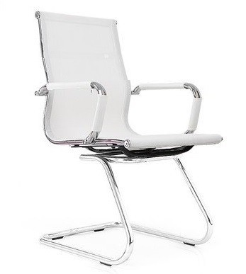 Office Armchair EGER, Fixed, Plating, White Mesh