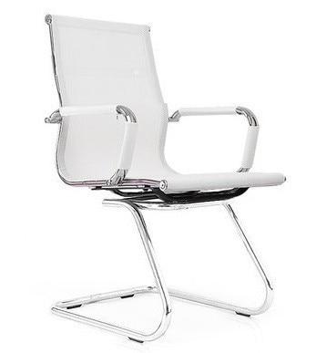 Office Armchair EGER, Fixed, Plating, White Mesh