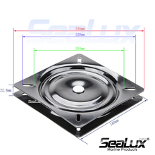 Sealux Seat swivel plate Seat rotation plate 360 degree Bar Stool, Chair, Boat, Van pilot seat, Office, Home Hardware Accessory 7 inch marine boat seat swivel coated mount base chair swivel plate set