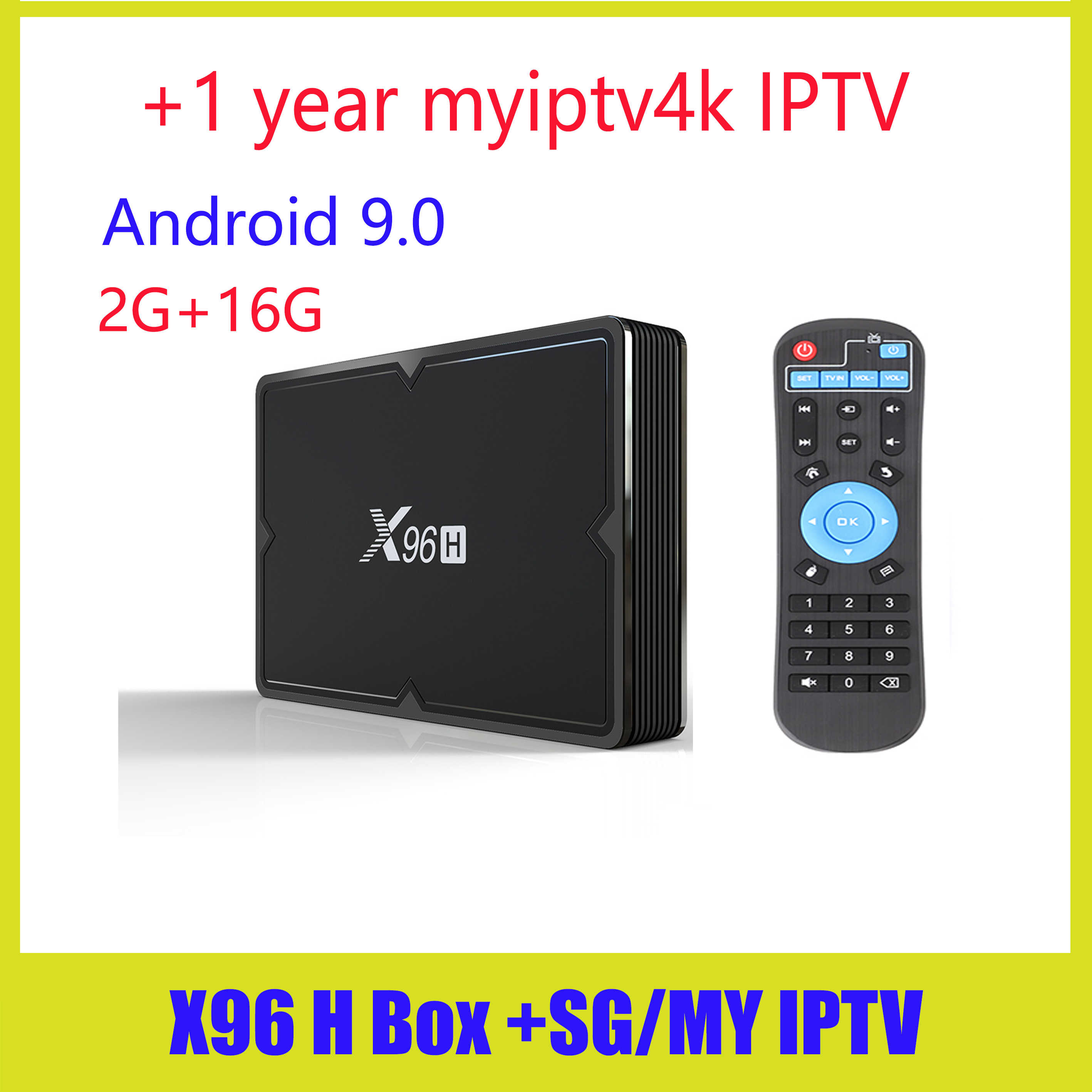 X96H Smart TV BOX myiptv X96 mini z systemem Android 9.0 4GB 64GB 32GB Allwinner H603 wifi 1080P 4K Netflix Youtube 2GB 16 GB, Set-Top Box