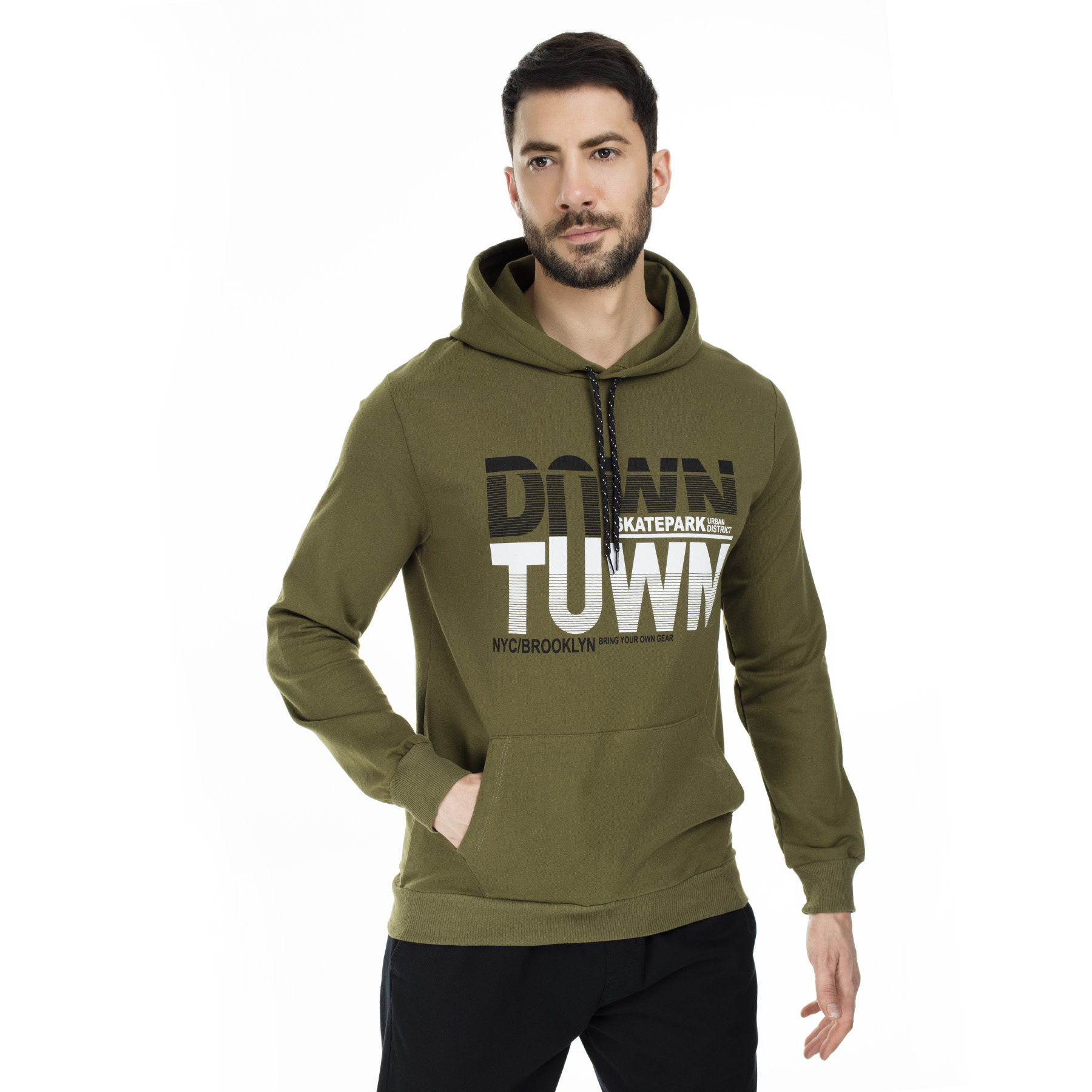 Buratti Printed Hooded Sweat MEN 'S SWEAT 541DOWNTOWN