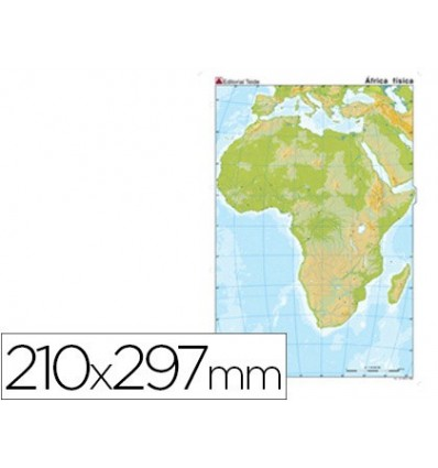 MAP MUTE COLOR DIN A4 AFRICA-PHYSICAL FITNESS 100 Units