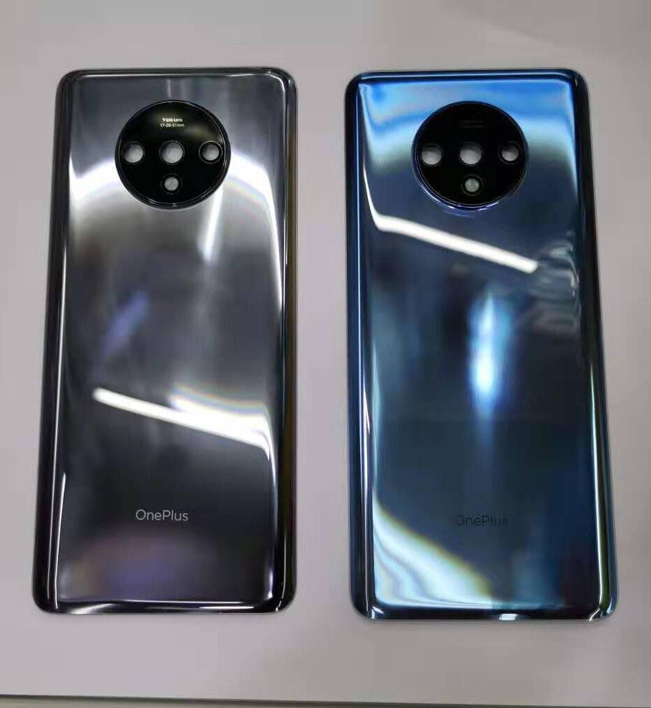 Witrigs pour OnePlus 7 T couvercle de batterie arrière porte arrière boîtier couvercle coque remplacement avec lentille adhésif pour One Plus 7 TBoîtiers téléphone portable   -