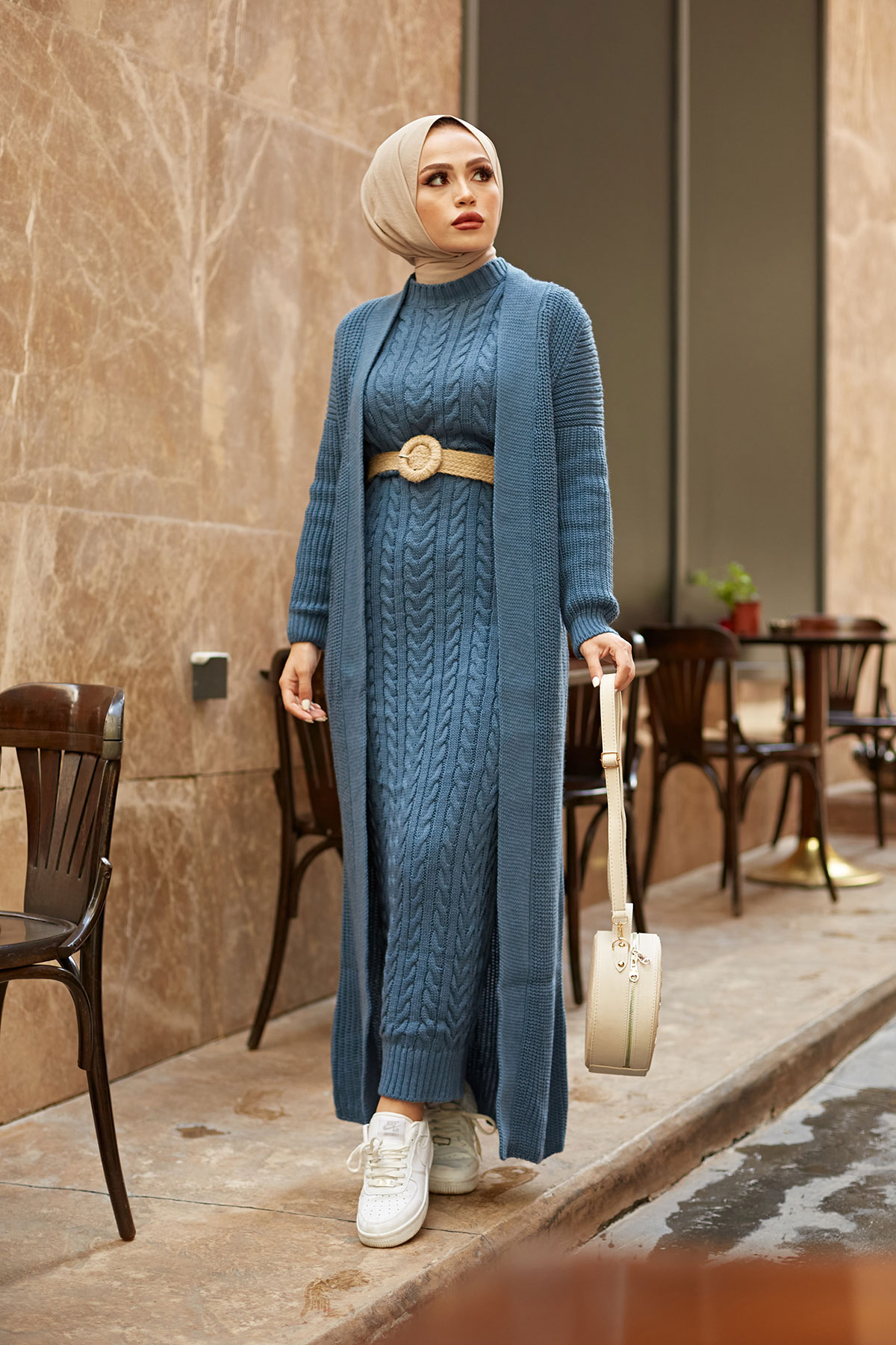 2 Pieces Woman Dress Knitted suit,New version, Color options,thick warm women's dress,Islamic Clothing,Muslim clothings,Turkey Women Women's Clothings Women's Dresses cb5feb1b7314637725a2e7: Anthracite|Beige|Brick|Camel|Fuchsia|Indigo|Light blue|Pine Green|Powder|ROSE|TAN|black|Navy blue|Sky Blue