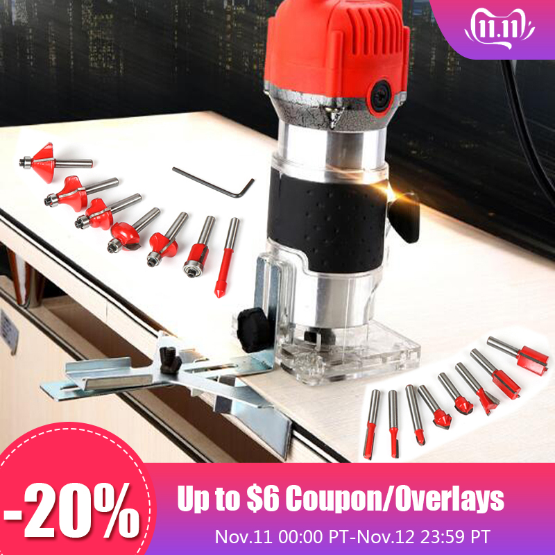 Carving Machine Electric Trimmer Wood Plug 30000rpm Wood Router Trimming Leather Woodworking DIY Drill Power Tools