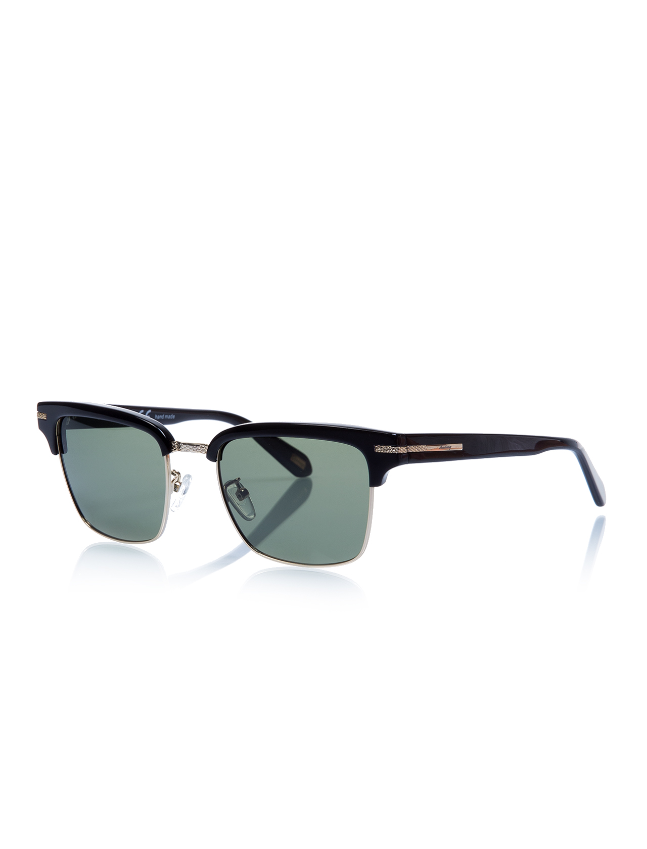 Unisex sunglasses mu 1449 01 clubmaster gold organic square square 53-19-140 mustang