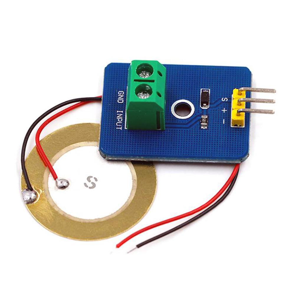 Taidacent DIY Ceramic Piezo Vibration Sensor Analog Vibration Sensor Piezoelectric Shock Sensor MCU Electronic Building Blocks