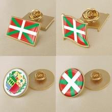 Заколки/Броши/значки для лацканов с флагом Испании герба Басков
