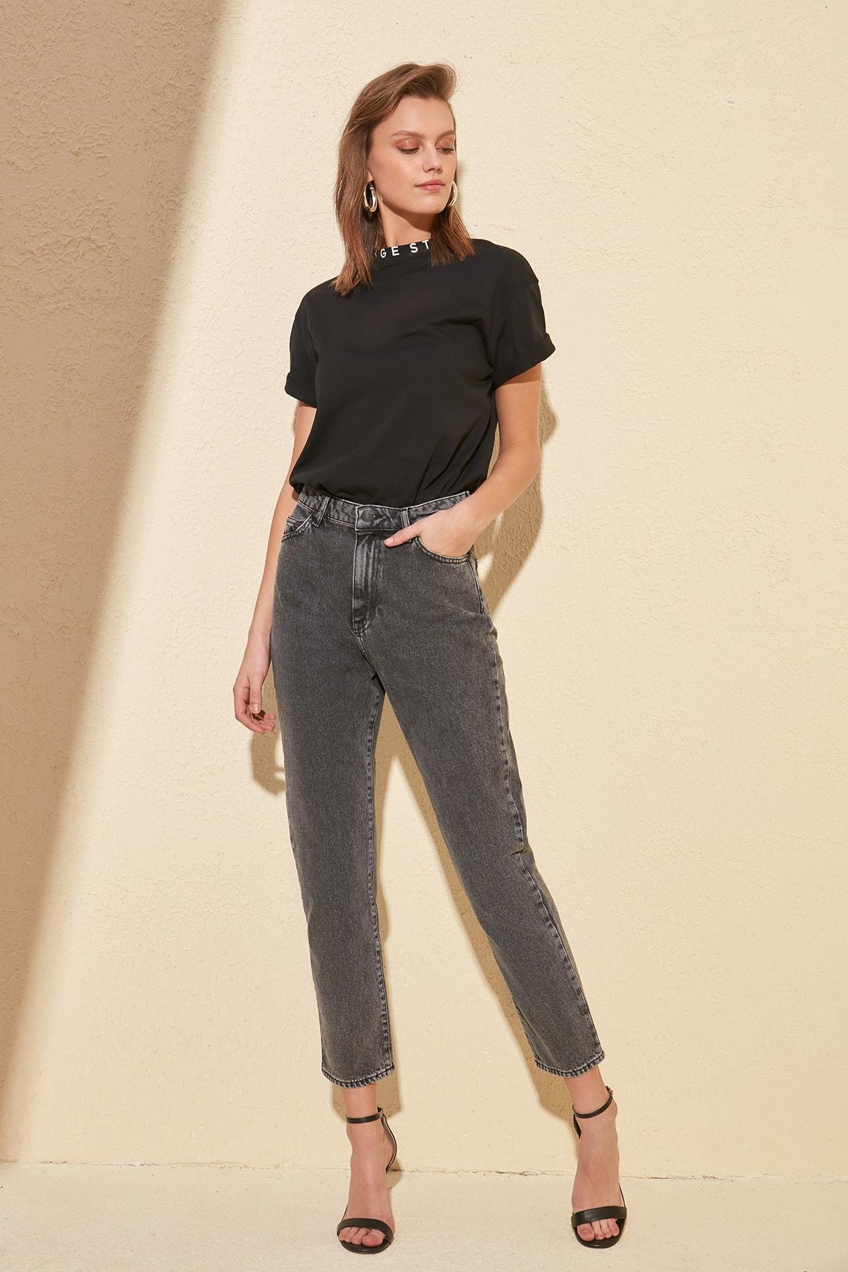 Trendyol High Bel Mom Jeans TWOSS20JE0021