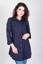 Women's Navy Blue Tunic Shirt 267