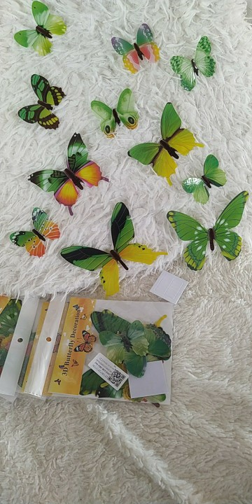 12 Piece Luminous Butterfly Stickers