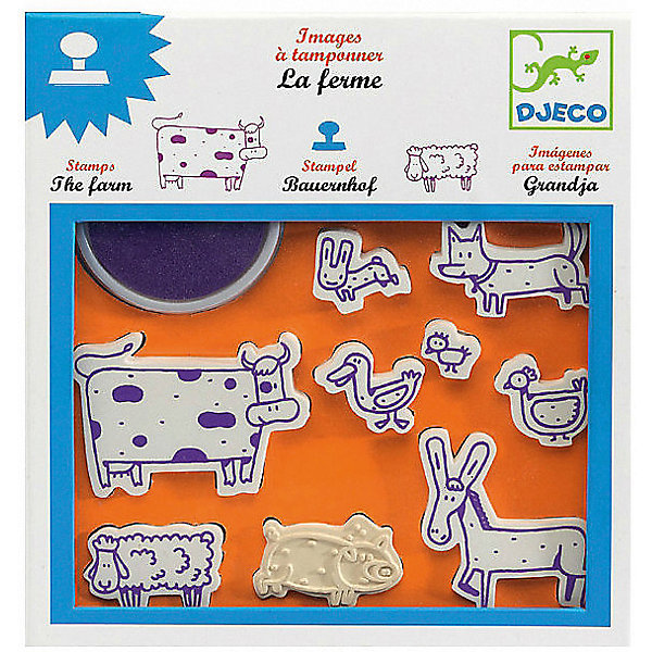 Set Of Stamps Farm, Djeco