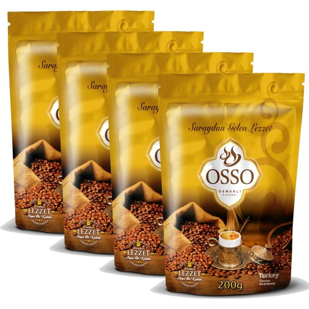 Ground Coffee 8 Special Ottoman Coffee Frothy Coffee 200 Gr(7 Oz) Delicious Coffee  Osso Coffee Yemen Coffee Cream Chocolate