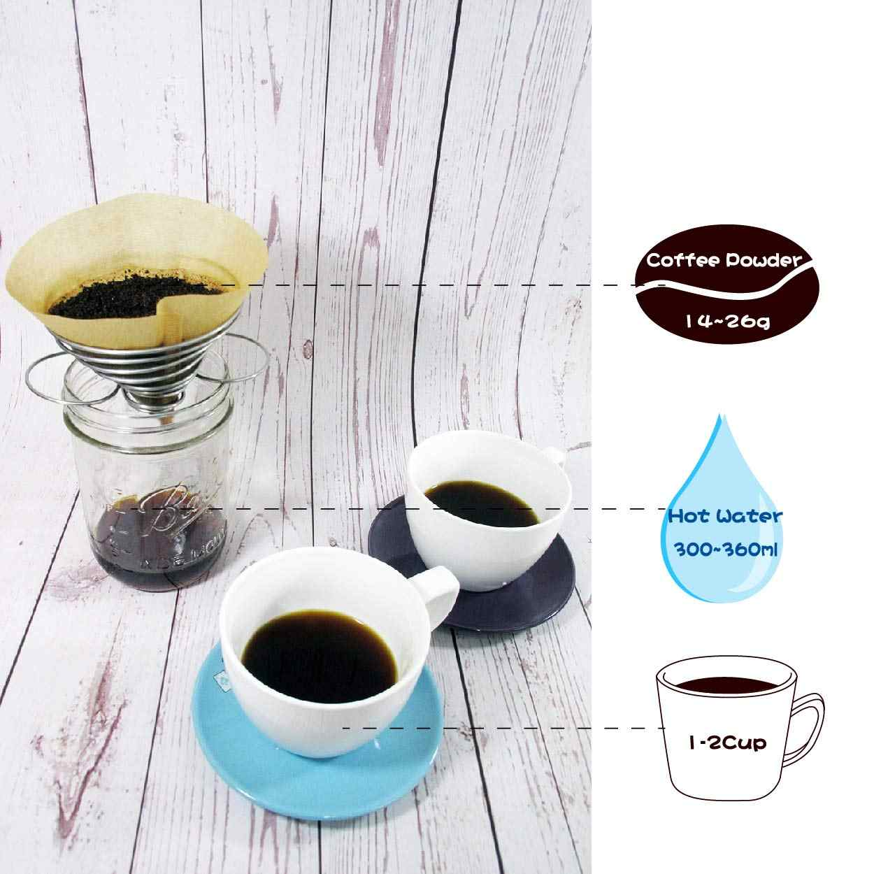 Pour Over Coffee Dripper Tea Filter Holder 306 stainless steel easy to carry