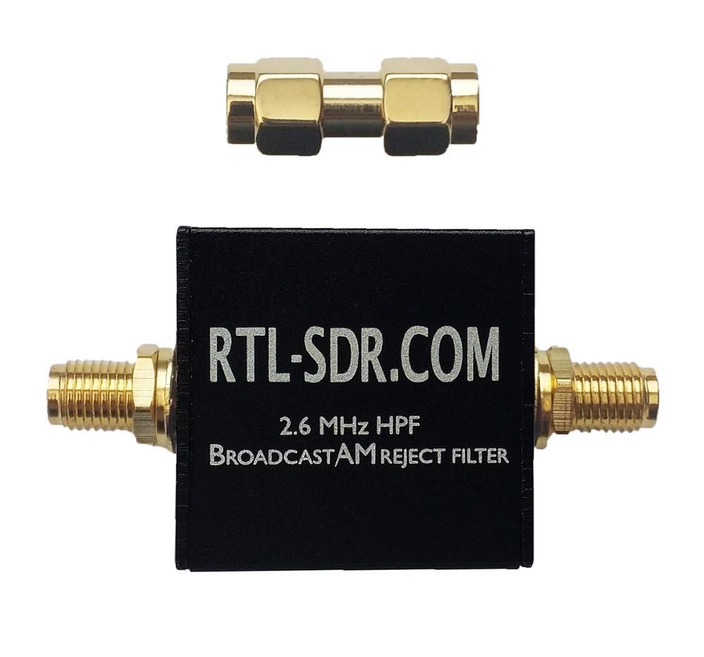 Фильтр высоких частот (2,6 МГц, HPF) от Broadcast AM Reject, через блог с поддержкой RTL-SDR