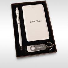 Personalized 853 Powerbank 8 gb Usb Memory Pen Set
