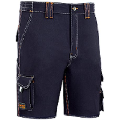 PANTALON WORK T44 SHORT ALG AZ/SEA STRETCH THREEFOLD STITCHED