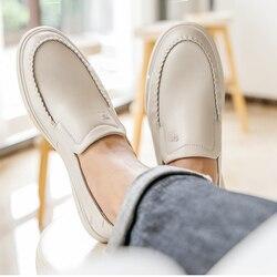 CAEML męskie buty męskie dorywczo prawdziwej skóry wołowej zestawy buty do biura miękkie komfortowe światło amortyzujące obuwie nowość