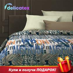 Set Tempat Tidur Delicatex 6513-1 + 15860-26Holland Home Tekstil Seprai Linen Bantalan Cover Duvet Cover Рillowcase