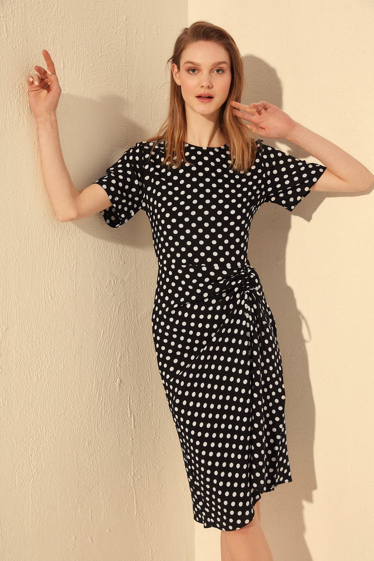 Trendyol Shirred Dress TWOSS20EL0584