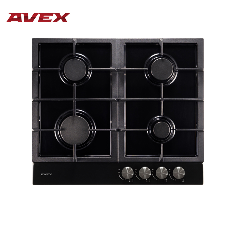 Built In Hob Gas On Metall With Cast Iron Grilles AVEX HS 6141 B Home Appliances Major Appliances Gas Cooking Surface Hob Cooker