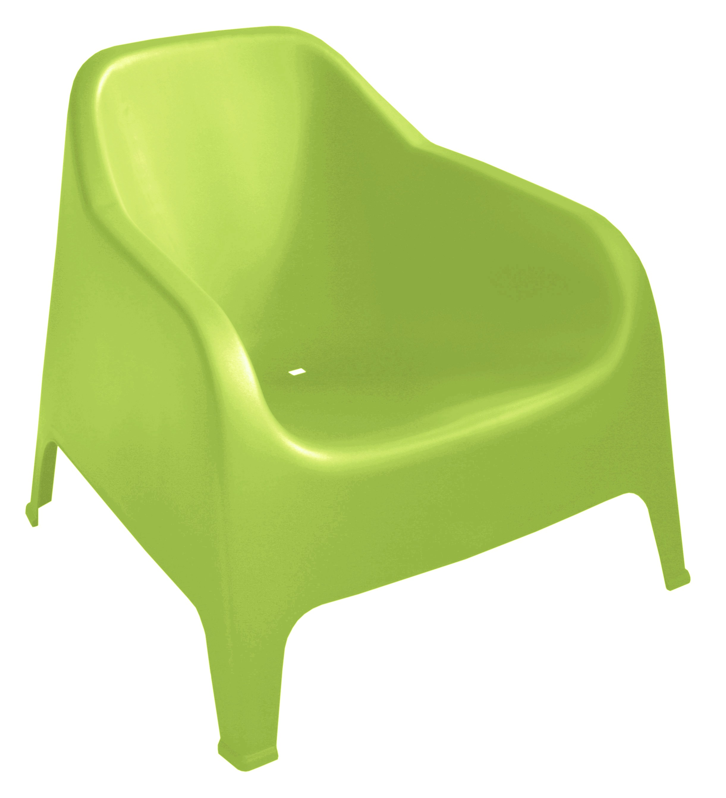 Armchair SUNNY BIG, Stackable, Polypropylene Lime Green
