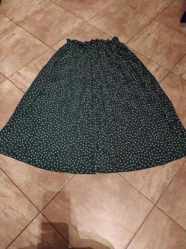 White Dots Floral Print Pleated Midi Skirt Women Elastic High Waist Side Pockets Skirts Summer 2021 Elegant Female Bottom|Skirts|   - AliExpress