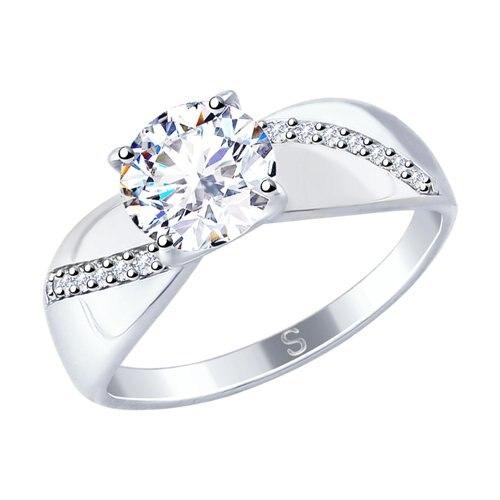 SOKOLOV Ring Of Silver With Swarovski Zirconia