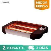 Ikohs tadha horizontal torradeira prática automática grill 600 w com luz indicadora de temperatura pan café da manhã antiderrapante pés|Torradeiras| |  -