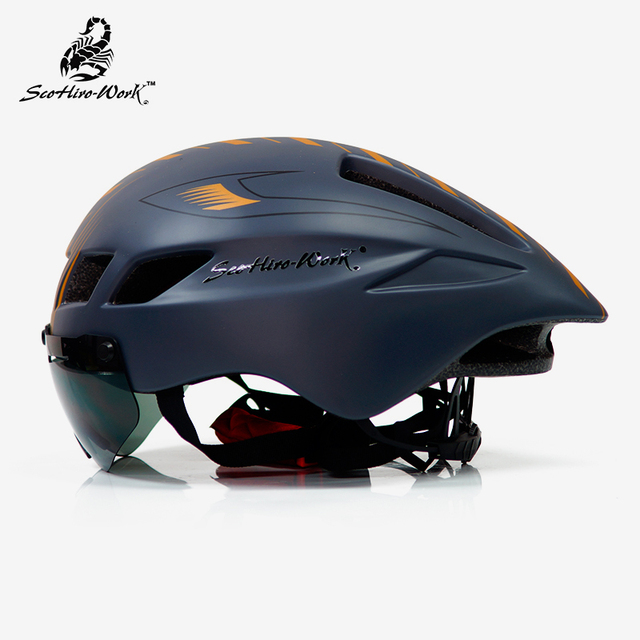 Capacete de bicicleta dos homens casco ciclismo estrada mtb mountain bike triathlon tt ciclismo capacete lente óculos equipa da bicicleta 1