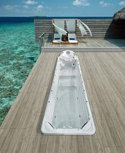 12 metrów Deluxe niekończące się pływanie masaż Spa z hydromasażem basen BG-6617 tanie tanio Wolnostojące CN (pochodzenie) Akrylowe Brak w zestawie Combo masaż (air whirlpool) Center 2 2 m 11800 x 2500 x 1670 mm