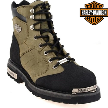 Original Harley Davidson Clemente Grey Leather Boots 2021 new season men's genuine leather waterproof winter casual motorcycle boots