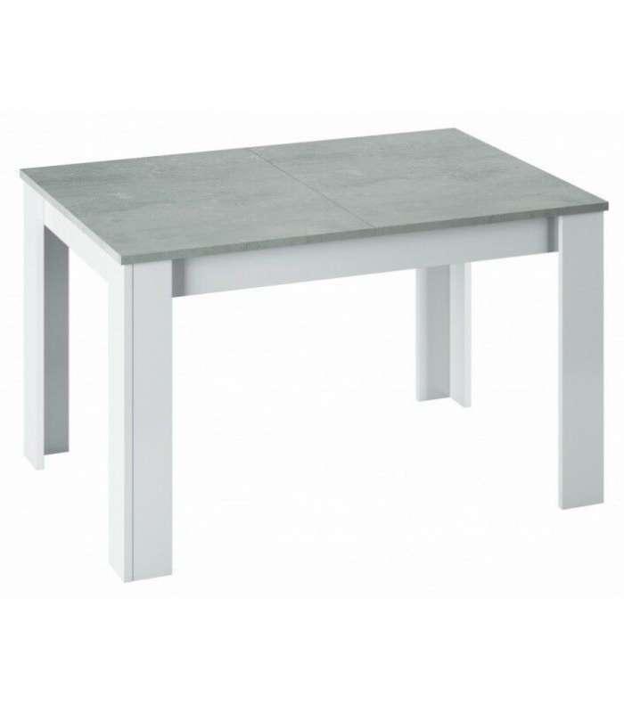 Extendable Dining Table Kendra Cement Color/White Artik