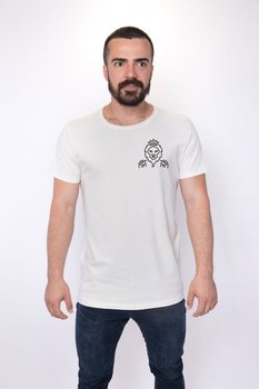 Angemiel Wear Lineal King Lion Pocket Cotton White Men 'S T-Shirt image
