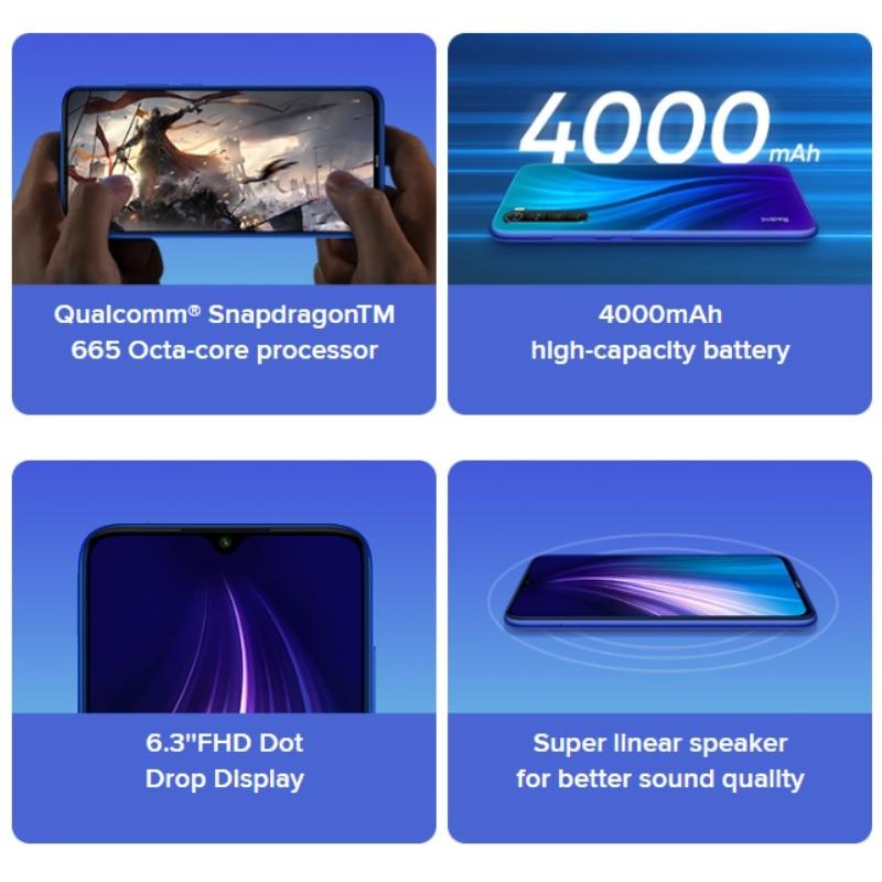 Image 5 - Version Globale Officielle Xiaomi Redmi Note 8 128GB ROM 4GB RAM (tout neuf/scellé) note 8, note8Mobile Téléphones   -
