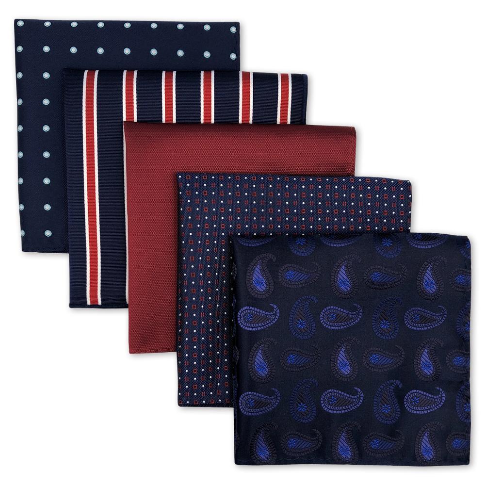 Mens Pocket Squares Wedding Handkerchiefs Set Fashion Formal Bundle 5 Pieces  Hanky