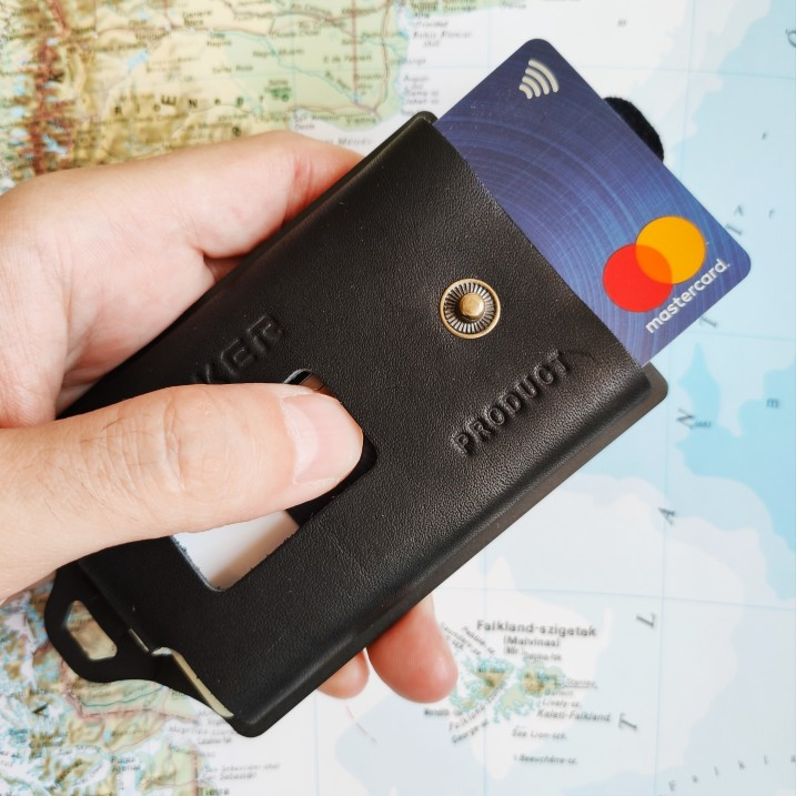 New Multifunctional Leather Metal Wallet Rfid Blocking Card Holder Credit Card Wallets Men'S Wallets photo review