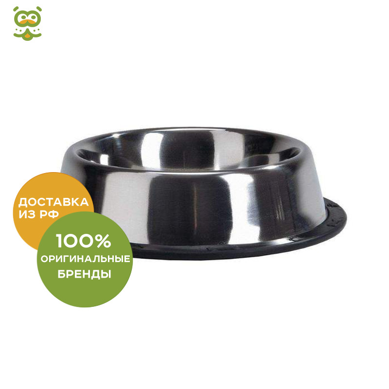 Beeztees (I. P. T. S.) Bowl steel chrome non-slip, 300 ml * 13 cm