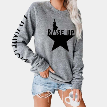 Letter Stars Print Top Long Sleeve T-shirt Women Casual Female Tops Tee Shirts Clothes tshirts 2020 mujer camisetas - discount item  49% OFF Tops & Tees