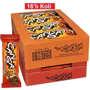 Chocolate Coated Peanut Caramel Nougat Bar CANGA 16 pc, Turkish Delight