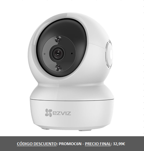 Security Camera Ezviz C6N Camera WiFi Resolution FHD 1080p 360 ° View Motion Detection