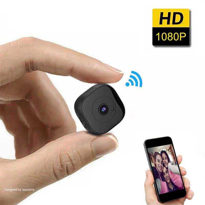 Mini cámara deportiva HD 1080p WiFi, cámara inalámbrica DV con Sensor de movimiento secreto de VERSIÓN NOCTURNA, compatible con tarjeta oculta de visión remota