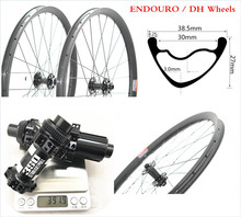 цена на Asymmetry-27.5er DH-AM-EN MTB Wheelset Mountain-Bike Tubeless 27.5inch 650B Wheelset Race-Hookless Tubeless Straight-Pull-Hubs