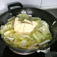 """#美食说出""""新年好""""#汤汁奶白的白菜炖冻豆腐的做法图解3"""
