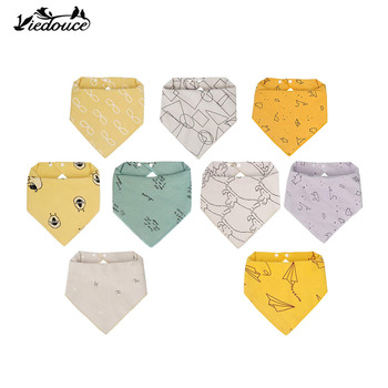 Viedouce 9PCS newborn kids baby bibs cotton girl bandana boy muslin toddler drool for